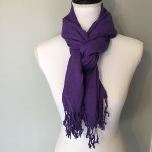 Purple Ashley Cooper Pashmina Scarf